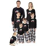 PajamaGram Fun Christmas Family Pajamas - Holiday Plaid, Red/Black, Pets, LG