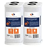 water filter big - 4-PACK Of 5 Micron Big Blue Coconut Shell Carbon Block Water Filter Cartridge 10