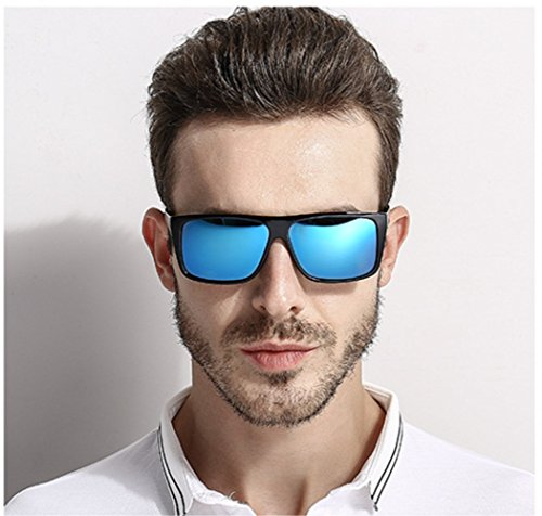 Blue Hombre Driving Fashion Material Blue PC MYLEDI Sunglasses Polarized gFS40