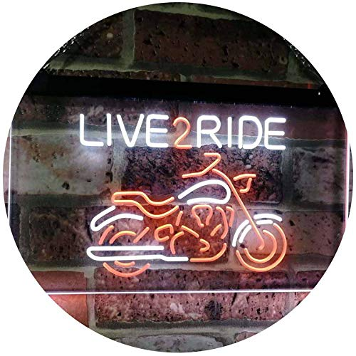 AdvpPro 2C Live to Ride Motorcycle Motorbike Garage Man Cave