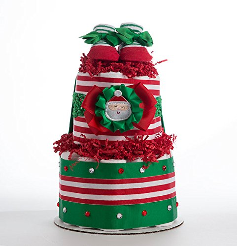 The ''My First Christmas'' Diaper Cake. by Sassy and Sweet Boutique