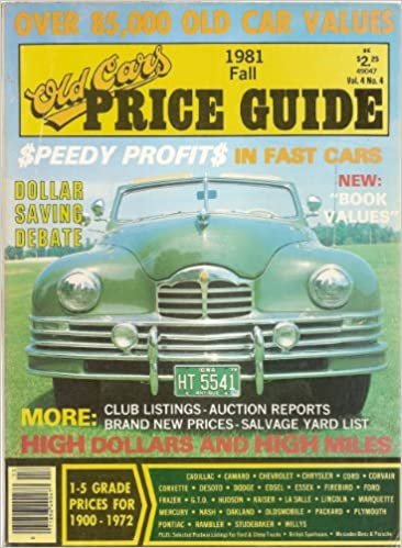 Old Car Values >> Old Cars Price Guide Fall 1981 Vol 4 No 4 John A