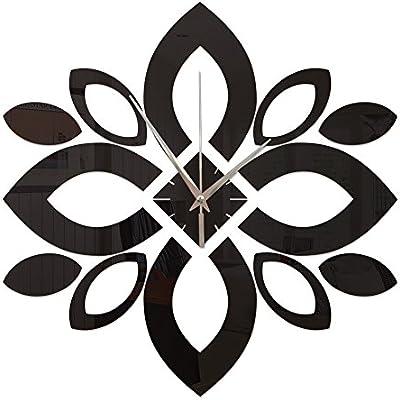 GOUZI Creative tridimensional pétalo Espejo acrílico reloj de ...