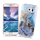 Samsung Galaxy S6 Case XiaoXiMi Marble Texture Cover Soft Flexible TPU Silicone Shell Ultra Slim Lightweight Phone Skin Protective Back Cover Antiscratch Antishock Bumper for Samsung Galaxy S6 - Ocean Pattern
