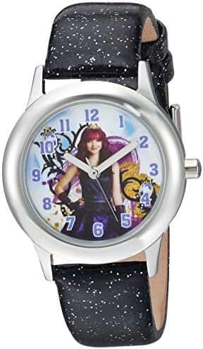 Disney Girl's 'Descendants 2' Quartz Stainless Steel Casual Watch, Color:Black (Model: WDS000248)