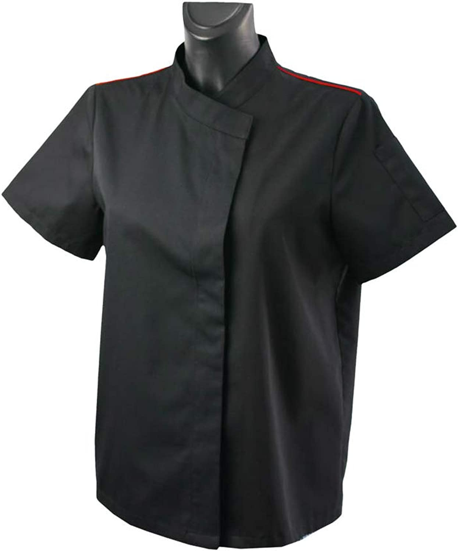 MISEMIYA - Camisa Uniforme Camarera con Mangas Cortas MESERO DEPENDIENTA Barman COCTELERA - Ref.XGN057 - XL, Negro-Burdeos: Amazon.es: Ropa y accesorios