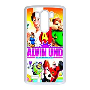Alvin and the Chipmunks LG G3 Cell Phone Case White SUJ8446887