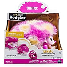Zoomer Hedgiez, Whirl, Interactive Hedgehog with Lights, Sounds and Sensors Pink