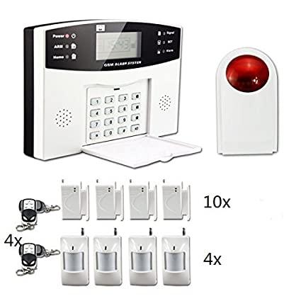 ectech antirrobo sistema de alarma de seguridad inalámbrica GSM Autodial llamada hogar alarma contra intrusos con