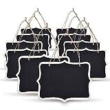 eBoot Mini Rectangle Chalkboard Label 5 x 6.5 Inch Black Board for Message Board Signs, Set of 10