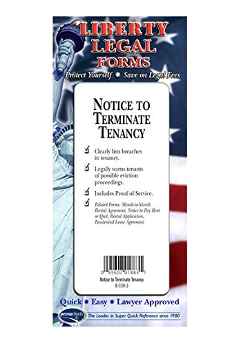 amazon com notice to terminate tenancy form usa do it yourself