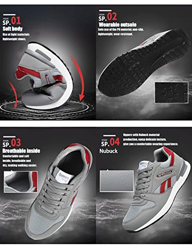 Fitness de Multisports Chaussures R Sneakers Femme Chaussure Sport de N Baskets Running Dt72 Course Outdoor Homme Gym de Gris xPqXwtd6