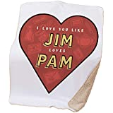 """NBC The Office Jim Loves Pam Sherpa Throw Blanket-50 x 60"""""""