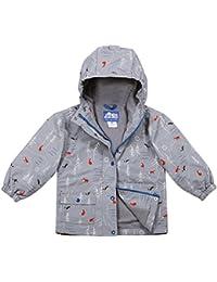 JAN & JUL Kids Water-Proof Fleece-Lined Rain-Coat Jacket Hooded (The Rockies, 5T)