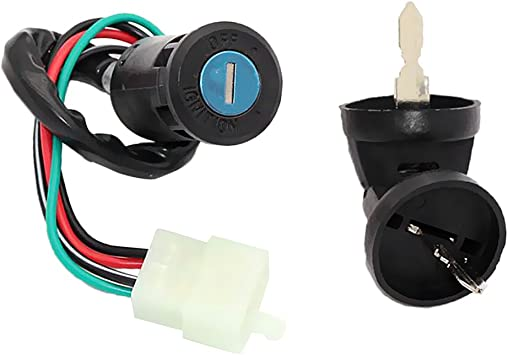 MagiDeal 4 Wire Pin Key Ignition Switch for Go Kart ATV Quad Dirt Bike Scooter Motorcycle