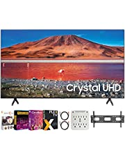 "$679 » SAMSUNG UN58TU7000 58"" 4K Ultra HD Smart LED TV (2020 Model) Bundle with Premiere Movies Streaming 2020 + 30-70 Inch TV Wall Mount + 6-Outlet Surge Adapter + 2X 6FT 4K HDMI 2.0 Cable"