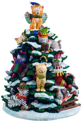 Holiday Music Box (San Francisco Music Box Factory Holiday Cats Lighted Tree Figurine)