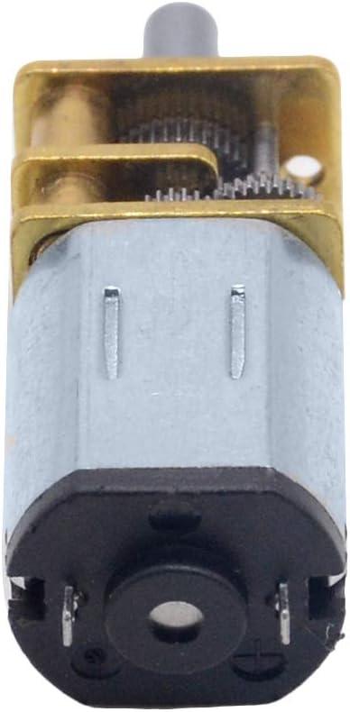 F-MINGNIAN-TOOL 1PC 3V 6V 12V DC N20 Mini Micro Metal Gear Motor avec pignon Moteur CC 15 30 50rpm 100 200rpm 300 500 1000 RPM Couleur : 1000RPM, Taille : 6V
