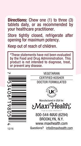 Maxi Health Yummie Oraldophilus - Acidophilus Probiotics - Tropical Flavor - 50 Chewies - Kosher by Maxi-Health (Image #4)