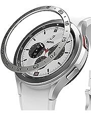 Ringke Bezel Styling Kompatybilny z Etui Samsung Galaxy Watch 4 Classic (46mm), Case Stal nierdzewna, Ochraniacz Kant - 46-01 (ST) Silver