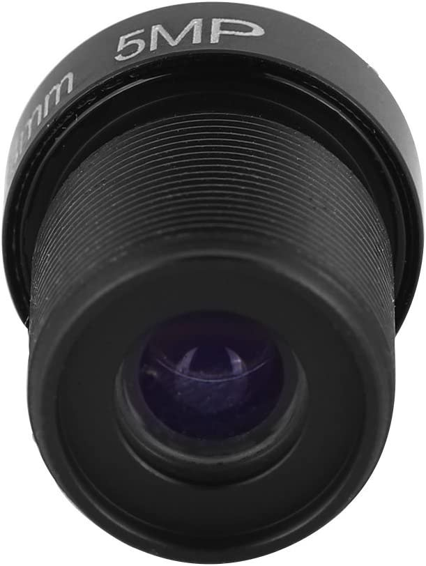 ASHATA Camera Lens 2.8mm 5MP Single Board Machine Wide Angle HD 1080P Replacement Network Camera Lens Supports Night Vision.