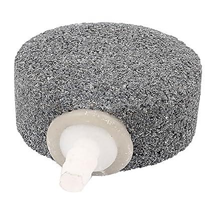eDealMax Piedra Aire peces de acuario tanque de oxígeno difusor de burbujas 50 mm Diámetro gris