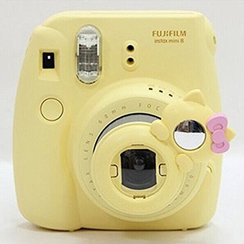 CLOVER Close Up Lens KT Cat Self-portrait Mirror For Fujifilm Instax Mini 7s 8 Camera -- Yellow