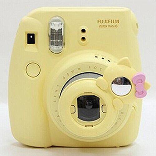 CLOVER Close Up Lens KT Cat Self-portrait Mirror For Fujifilm Instax Mini 7s 8 Camera -- Yellow