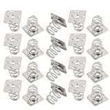 uxcell® 20 Pcs Silver Tone Metal Battery Spring Plate Set for AAAA Batteries NEG Spring