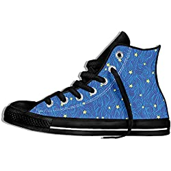 NAFQ Starry Sky Nebula Classic Canvas Sneakers Shoes Lace Up Unisex High Top