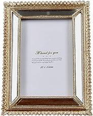 LOOPIG Moldura clássica esculpida para fotos, 15 cm, criativa, borda espelhada, álbum, estilo palácio