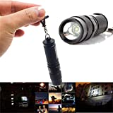 Willsa 2000 Lumen Mini LED Flashlight Lamp Outdoor Light CREE Q5