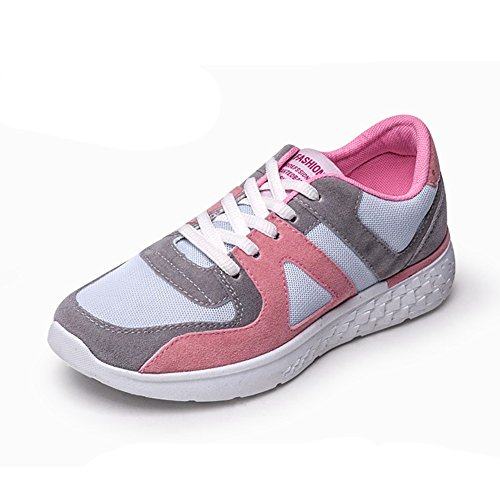 GIY Women Fashion Round Toe Low Top Sneakers Light Weight Breathable Running Shoes