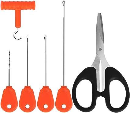 5 in 1 Carp Fishing Baiting Rig Tool Set Needle  Driller Tackle Kit