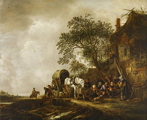[Oil Painting 'Isack Van Ostade - Travelers Halting At An Inn, C. 1635-49' Printing On High Quality Polyster Canvas , 16x19 Inch / 41x49 Cm ,the Best Garage Decoration And Home Gallery Art And Gifts Is This Replica Art DecorativeCanvas] (C Viper Costumes)
