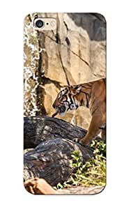Case For Iphone 6 Plus Tpu Phone Case Cover(tiger Wild Cat Predator Profile ) For Thanksgiving Day's Gift