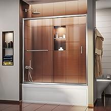 DreamLine SHDR-0960580-01 Infinity-Z 56 to 60-Inch Frameless Sliding Tub Door, Chrome Finish
