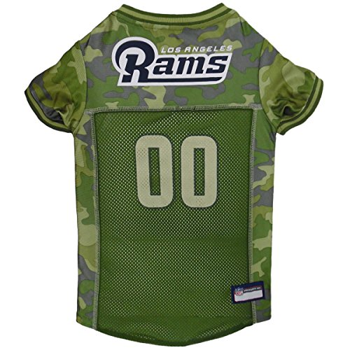 NFL Los Angeles RAMS Camouflage Dog Jersey, X-Large. - CAMO PET Jersey Available in 5 Sizes & 32 NFL Teams. Hunting Dog Shirt -