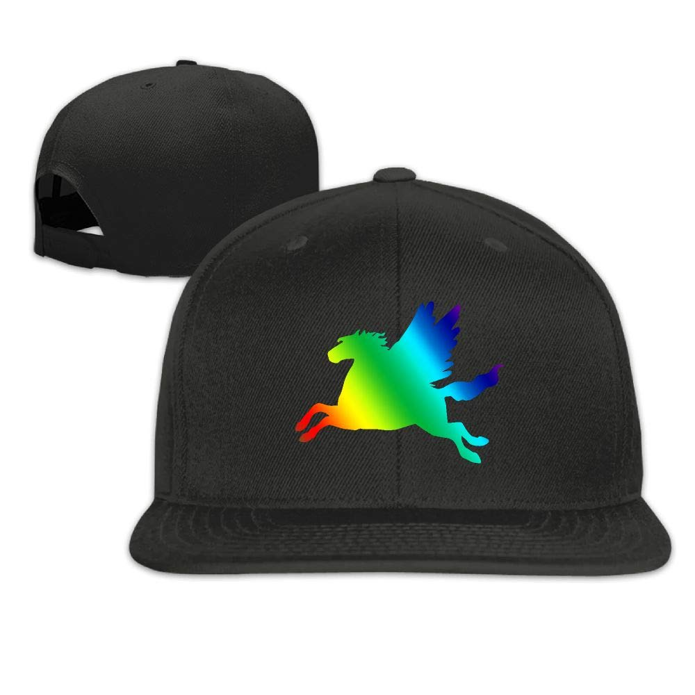 Essential Rainbow Horse Flying Cotton Blouse Tops for Mens Vtw24i-5 Mens Hooded Sweatshirt