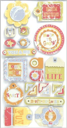 We R Memory Keepers Promenade Layered Chipboard-Tags (Tags Chipboard Layered)