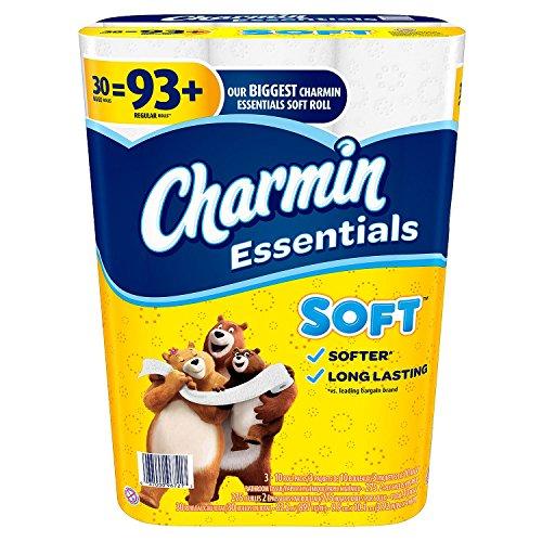 Price comparison product image Product of Charmin Essentials Soft Toilet Paper (30 Huge Rolls) - Toilet Paper [Bulk Savings]