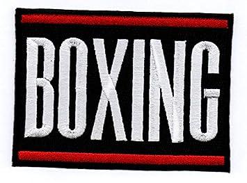 Aufn/äher B/ügelbild Sportabzeichen Stickbild Iron on Patch Boxing