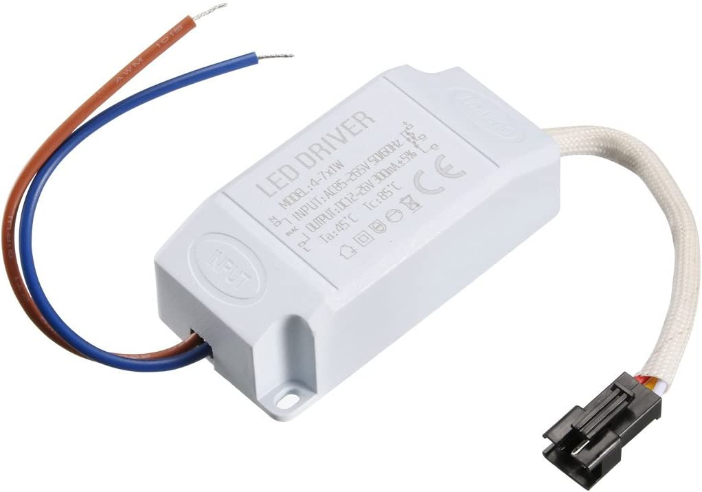 uxcell LED Driver 4-7W Constant Current 300mA AC 85-265V Output 12-26V Power Supply LED Ceiling Lamp Rectifier Transformer