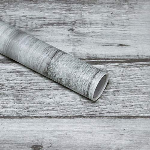 Grey Wood Panel Wallpaper Wood Effect Wallpaper Self Adhesive Removable Peel and Stick on Wallpaper Contact Paper Wood Effect Wallpaper Rustic Distressed Dark Grey Wood Shiplap Wallpaper 45x300CM
