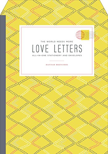 Love Stationery - The World Needs More Love Letters All-in-One Stationery and Envelopes