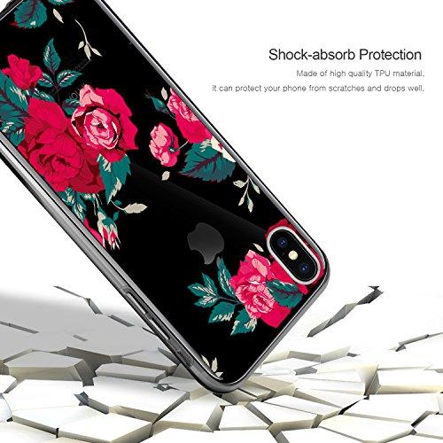 "Coque Etui iPhone X , ivencase iPhone X Silicone Gel Case Avant et Arrière Intégral , Full Protection Cover , Ultra Mince Souple TPU Housse Anti-rayures pour Apple iPhone X 5.8"""