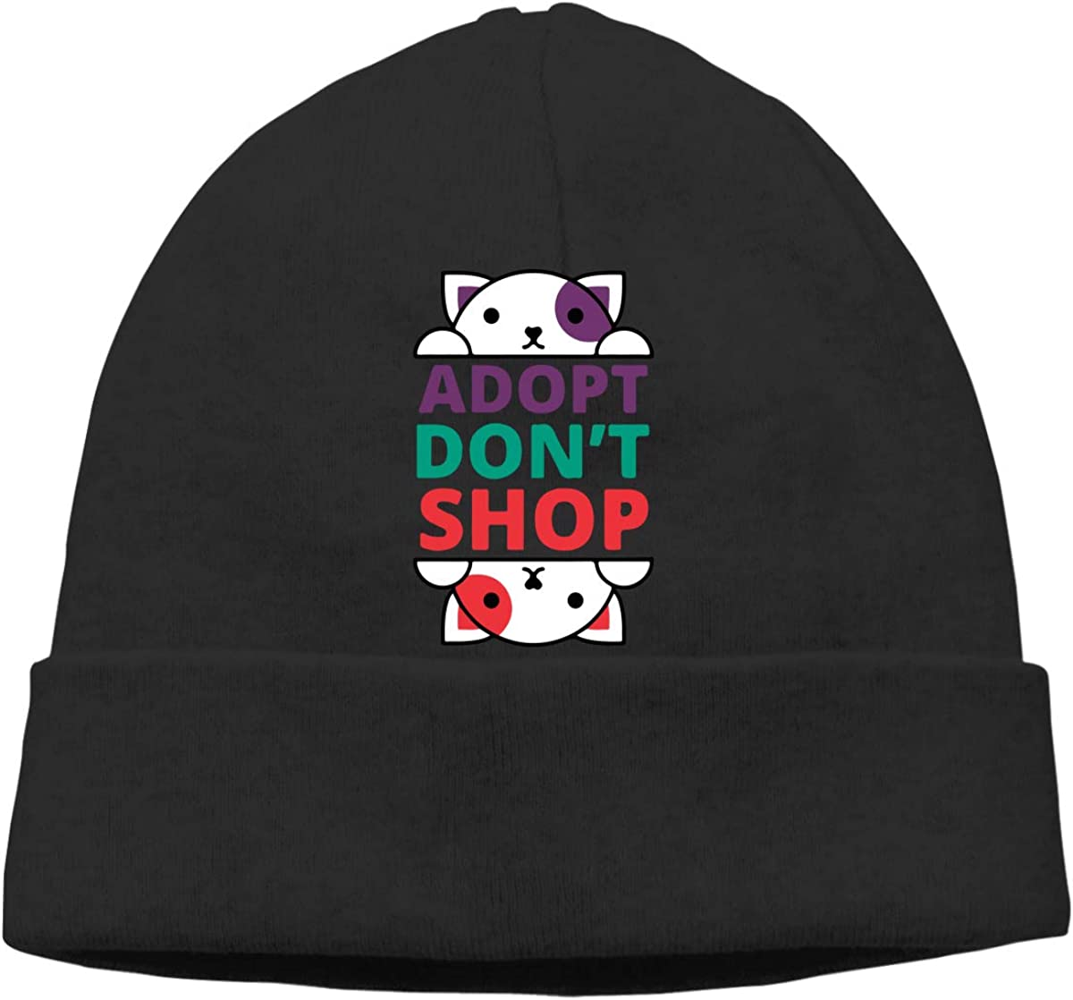 Adopt Dont Shop Animal Rescue Women and Men Thick Winter Ski Beanie Hat