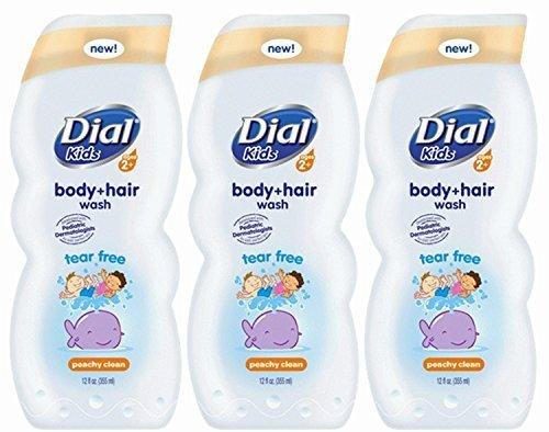 dial-kids-body-hair-wash-peachy-clean-12-ounce-pack-of-3