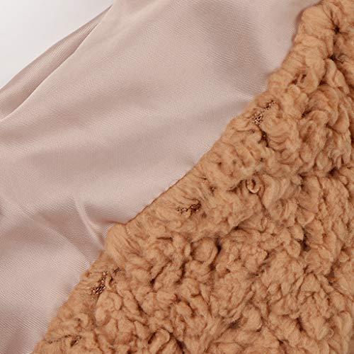 Tamaño Moderna Camello Extragrande De Outwear Piel Gran Solapa Abrigo Acogedoras Cálidas B Lana Baosity Para Chaqueta Mujeres wx10Op