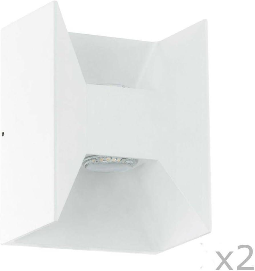 /2/appliques di Esterno LED 2/luci bianco H18/cm/ Morino/ /Luce per esterni Eglo design/é per